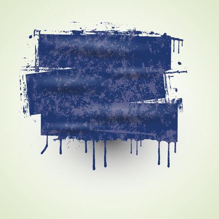 wet paint: Wet Paint Grunge Banner Vector