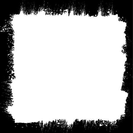 Cadre texture grunge frontière Vecteurs