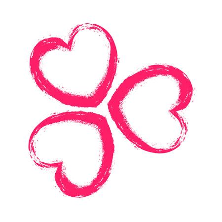 corazones de amor: Grunge Love Hearts