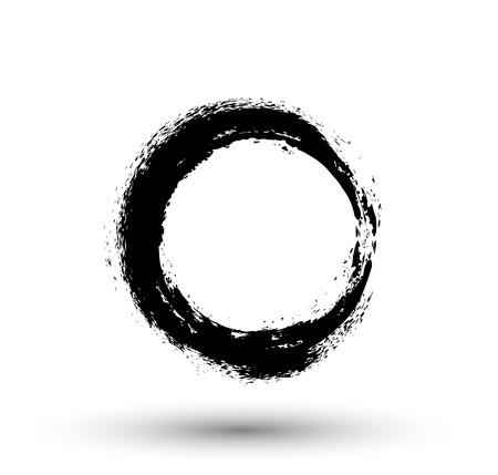 Grunge Retro Circle Illustration