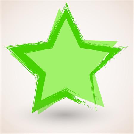Grunge Star Banner Illustration
