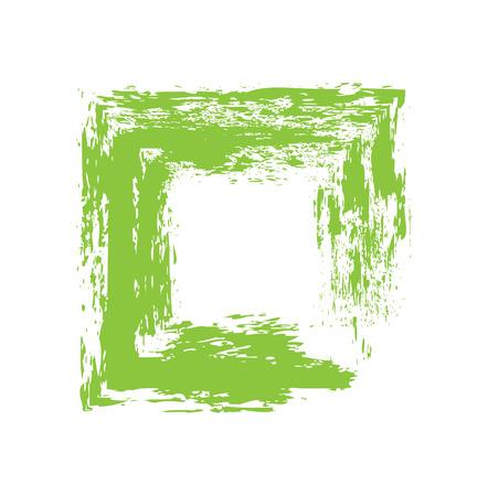 grunge banner: Green Grunge Frame Banner