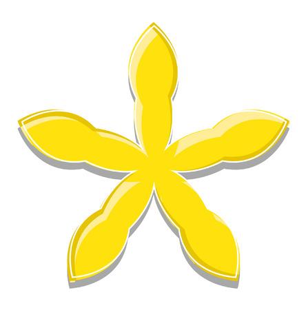 yellow star: Yellow Star Design Illustration