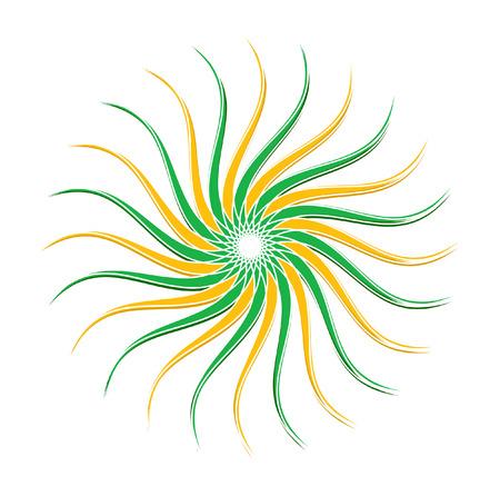 swirl: Swirl Floral Sunburst