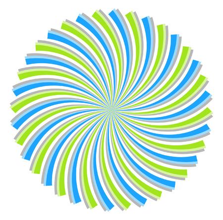 swirl: Vintage Colored Swirl Sunburst