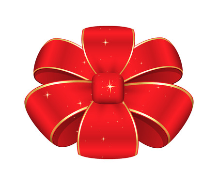 red ribbon bow: Red Ribbon Bow