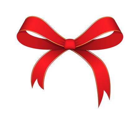 Red Ribbon Bow Standard-Bild - 35965736