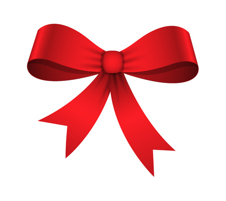 Christmas Ribbon Bow Vector Ilustração