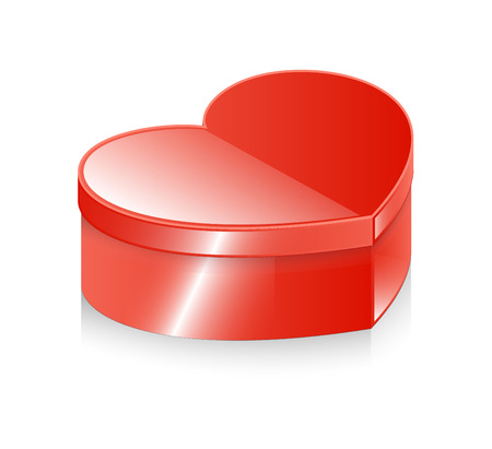 wrap wrapped: Valentine Gift Box Vector Illustration