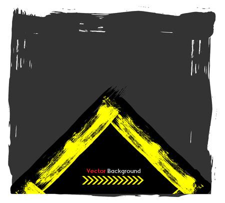 Grunge Frame Banner Illustration