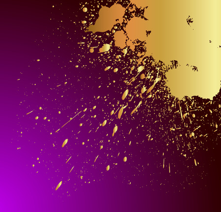 Golden Splatter Background