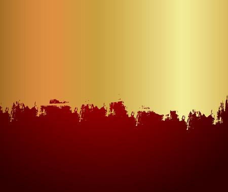 scatter: Grunge Golden Paint Scatter Background