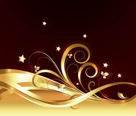Abstract Golden Ornamental Flourish Vector