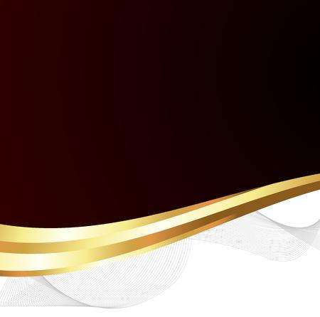 wavy: Abstract Golden Wavy Banner