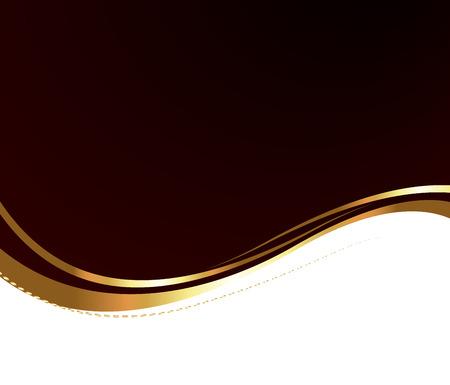 Abstract Golden Wavy Banner Vector