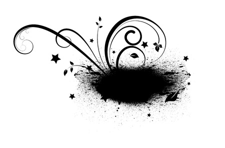 scatter: Grunge Flourish Scatter Banner Shape Illustration
