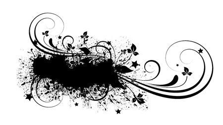 to scatter: Grunge Flourish Scatter Banner Shape Illustration