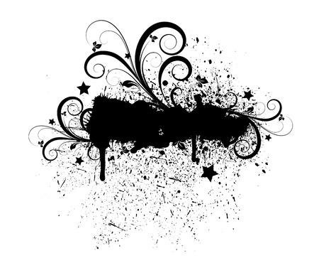 grunge banner: Grunge Flourish Banner