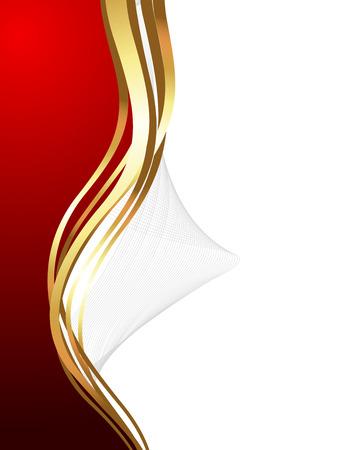 Wave Design Golden Banner Vector