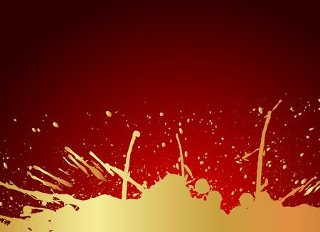 Grunge Golden Splash Banner