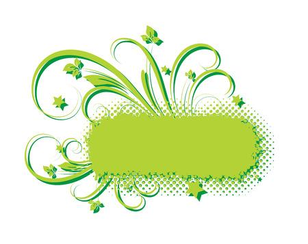 grunge banner: Grunge Texture Flourish Banner Vector