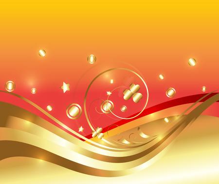 Decor Golden Ornamental Flourish Background Vector