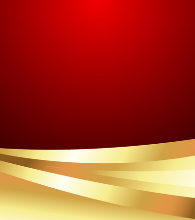 Wavy Golden Valentine Background Vector