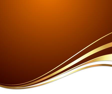 Festive Golden Wave Background Vector