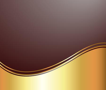 Golden Wave Vector Background Vector