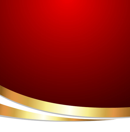 Golden Wave Design Template Banner Vector