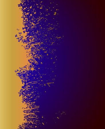 blot: Grunge Golden Blot Background