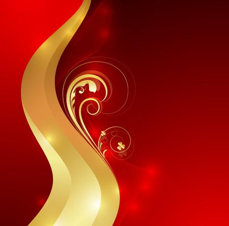 swirl: Flourish Swirl Sparkles Background Illustration