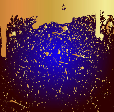 Golden Grunge Paint Background