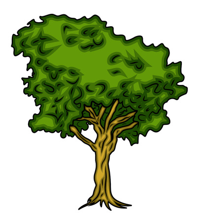 elongated: Green Tree Vector Design