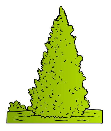 elongated: Vector Green Tree