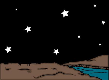 night background: Stars at Night Background Illustration
