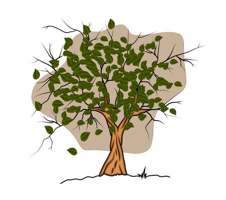 elongated: Tree Vector Design