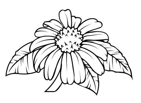 dessin fleur: R�tro Fleur Dessin