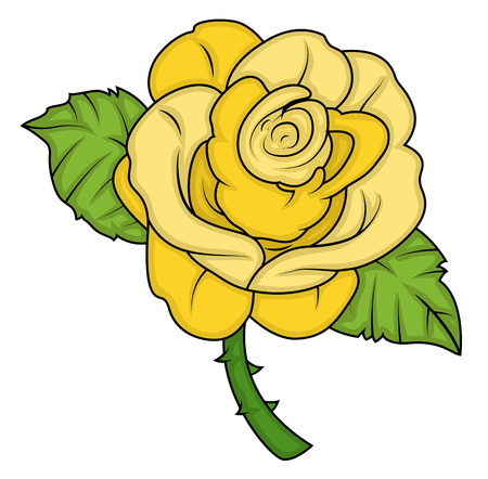 yellow vector: Yellow Vector Rose