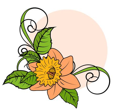 esquineros de flores: Marco de la flor de la esquina Vectores