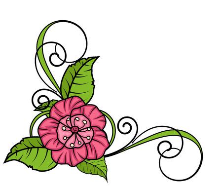 corner frame: Pink Flower Corner Frame