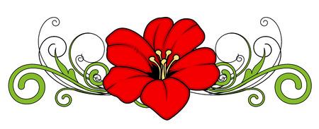Kerst Flower Divider Vector