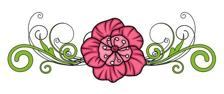 separator: Retro Flower Separator Vector