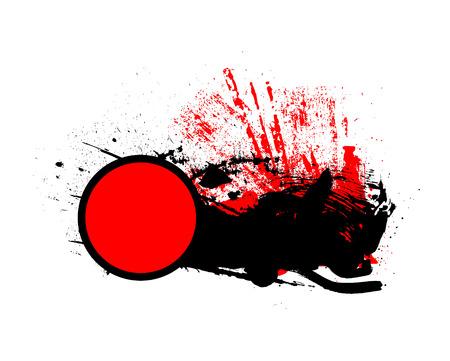 grunge banner: Grunge Retro Circle Banner Illustration