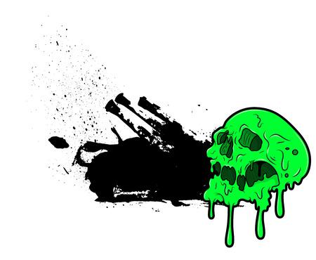 scruffy: Scruffy Grunge Halloween Skull Banner