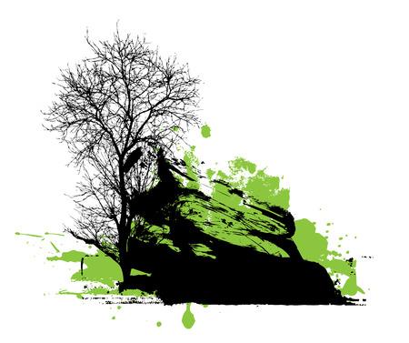 toter baum: Dead Tree Halloween Banner