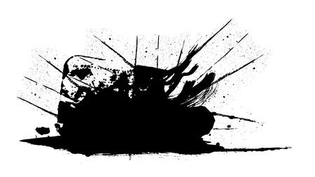 rough: Grunge Texture Rough Splash Banner Illustration