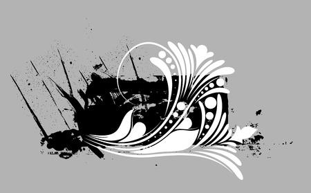 grunge banner: Grunge Floral Banner Vector