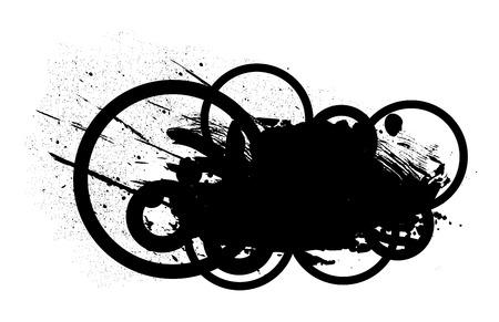grunge banner: Circle Abstract Grunge Banner