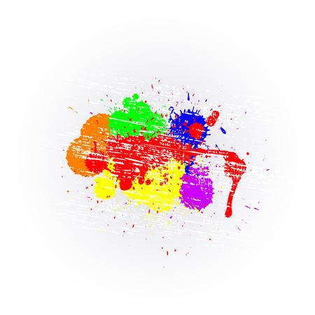 whitewash: Colorful Grunge Splashes